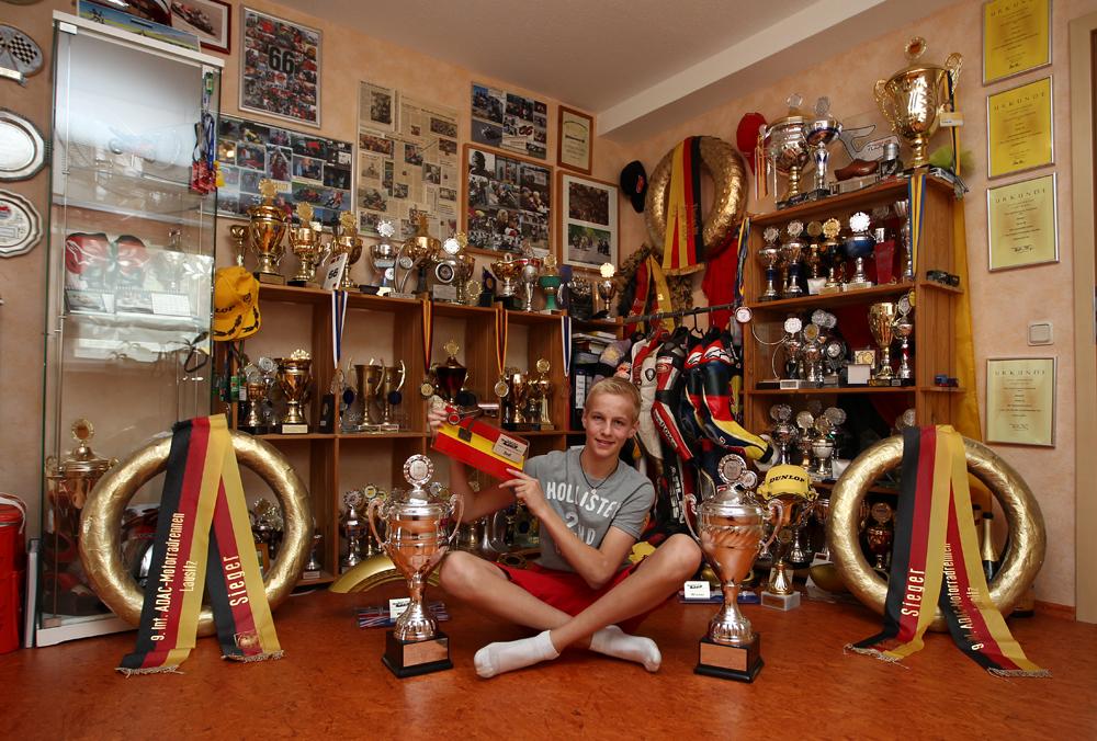 Florian Alt Im Pokalzimmer In Trophy Room