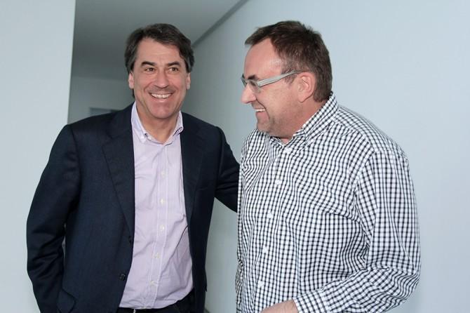 KTM CEO Stefan Pierer, Designer Gerald Kiska