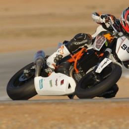 McWilliams auf KTM 690 für den European Junior Cup 2012. // McWilliams setting up the 690 racer for EJC season 2012.