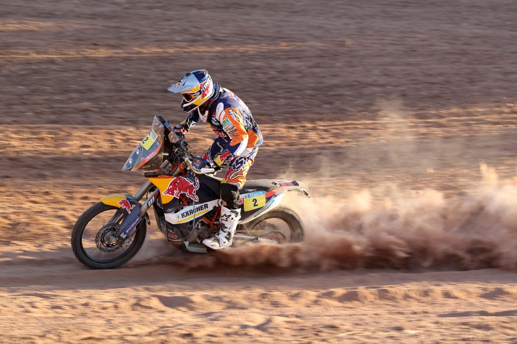 Marc Coma & KTM 450 RALLY MY14 (© Jonty Edmunds KTMimages.com)