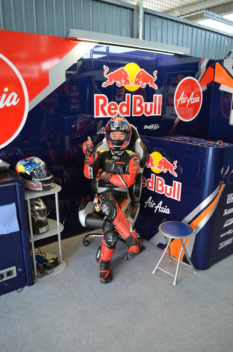 Journalist Red Bull Ajo KTM Box