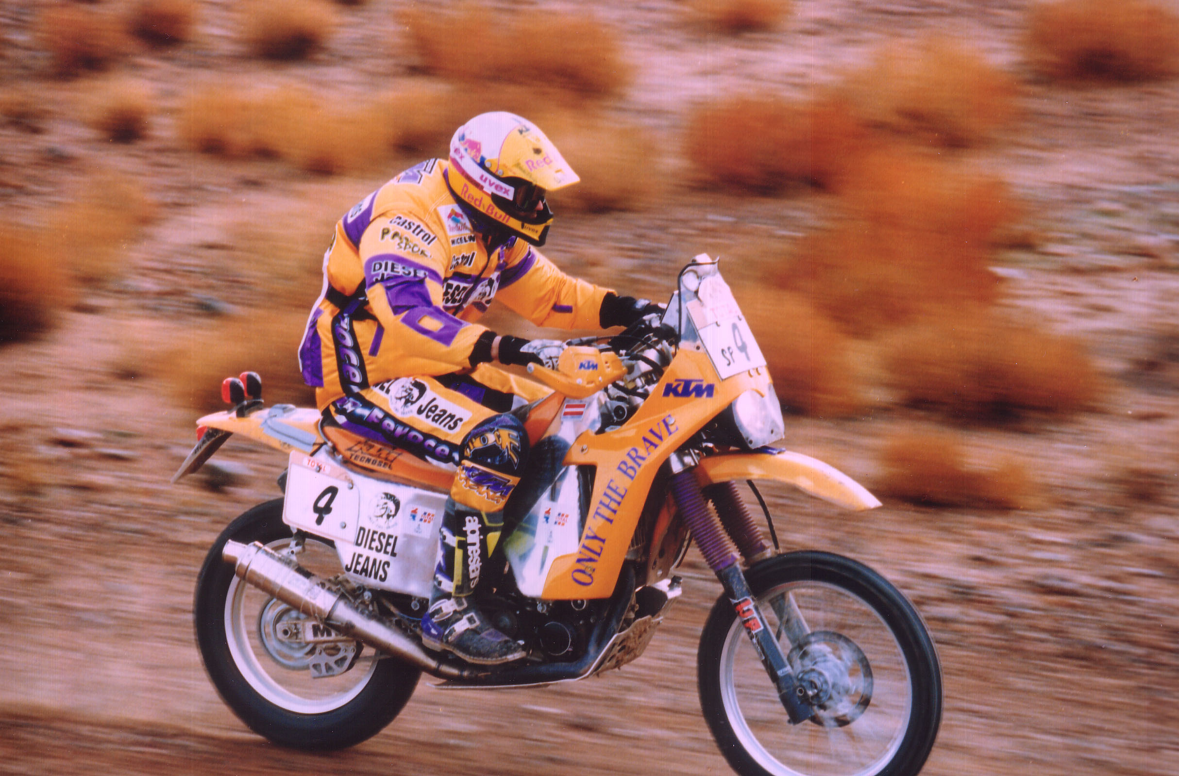 1996 Paris Dakar Rally first time Red Bull Helmet