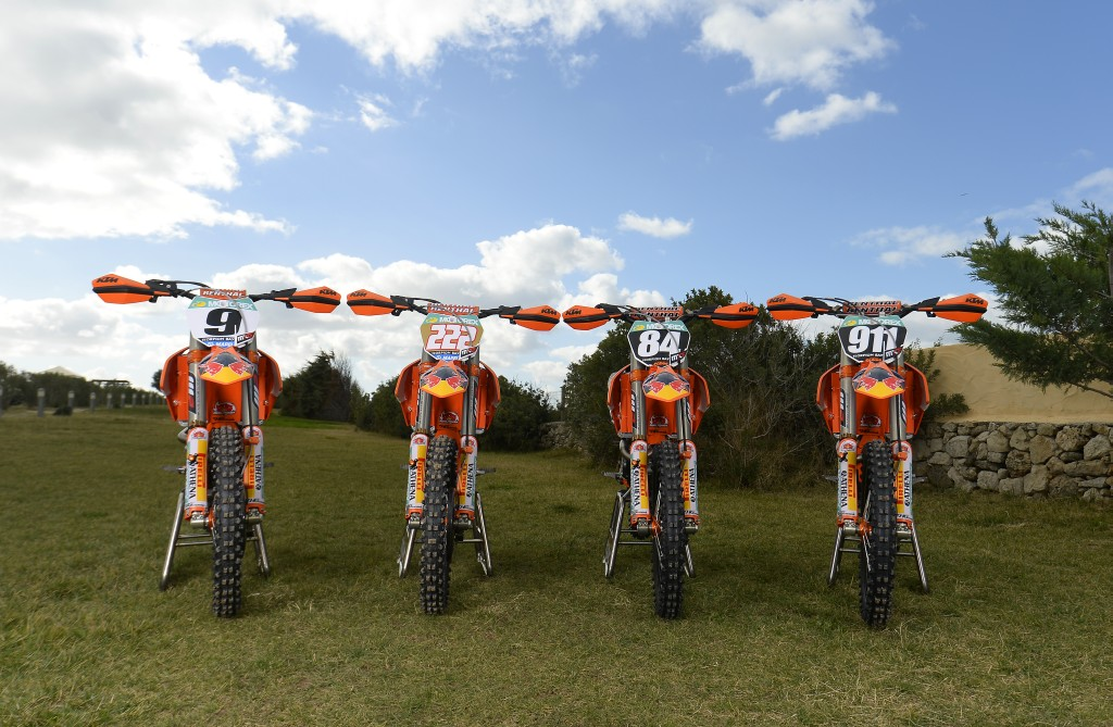 Bikes Red Bull KTM MX Factory Team 2014 © Stefano Taglioni / ktmimages.com