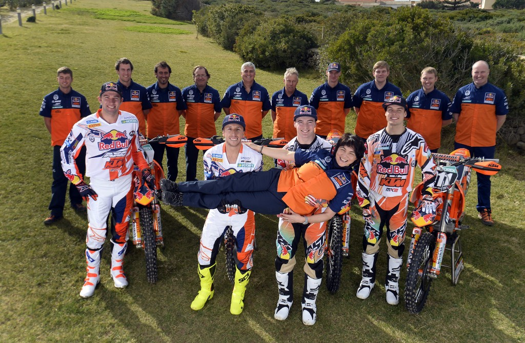 Red Bull KTM MX Factory Team 2014  © Stefano Taglioni / ktmimages.com