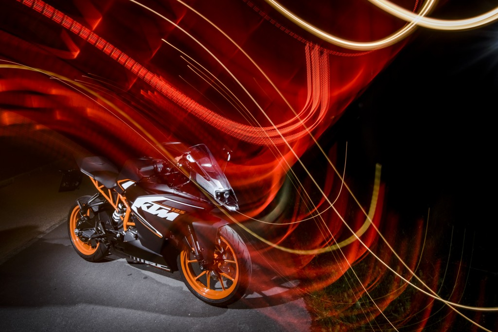 Finally there and ready to test: The all-new KTM RC 125