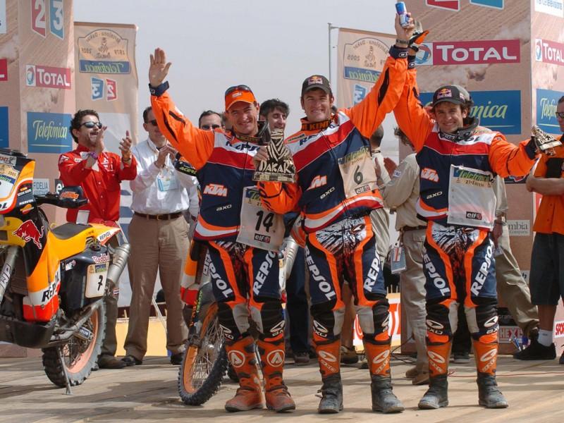 Giovanni Sala, Marc Coma & Jordi Durán Rally Dakar 2005