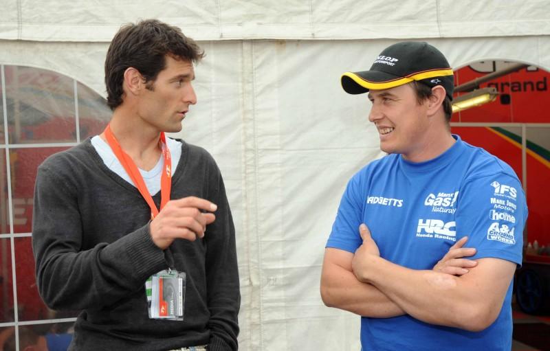 Mark with friend, John McGuinness - winner of 23 Isle of Man TT races © Stephen Davison