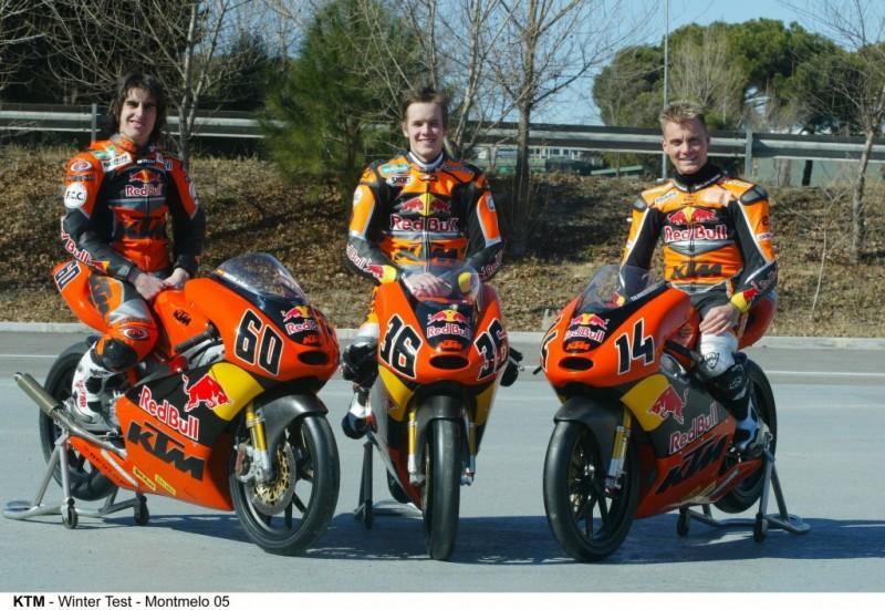 Julián Simón, Mika Kallio & Gabor Talmácsi KTM 125 FRR 2005