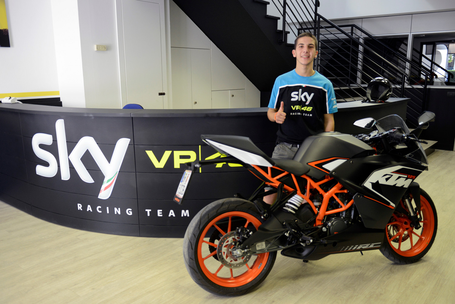 andrea migno about racing with sky racing team vr46 and ktm   ktm blog