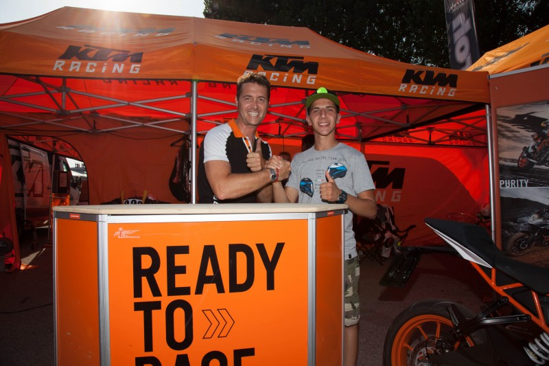 KTM Italien Marketing Manager Paolo Fabiano & Andrea Migno