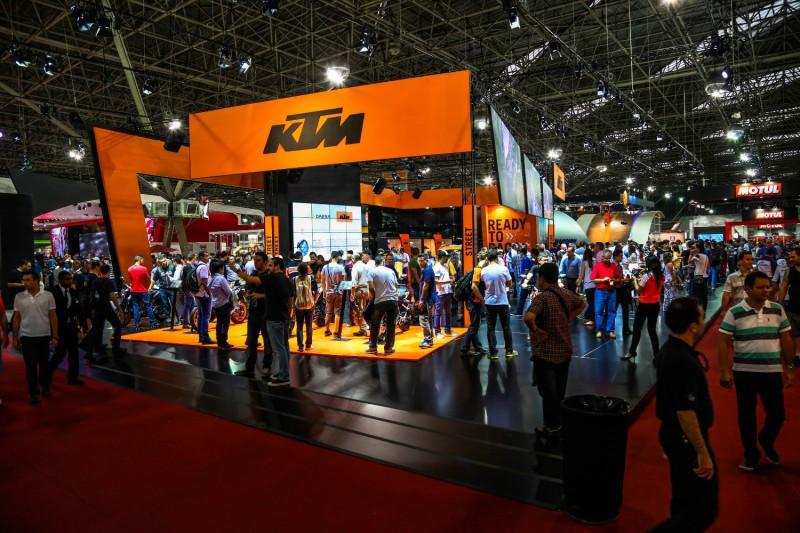KTM booth Salão Duas Rodas 2015