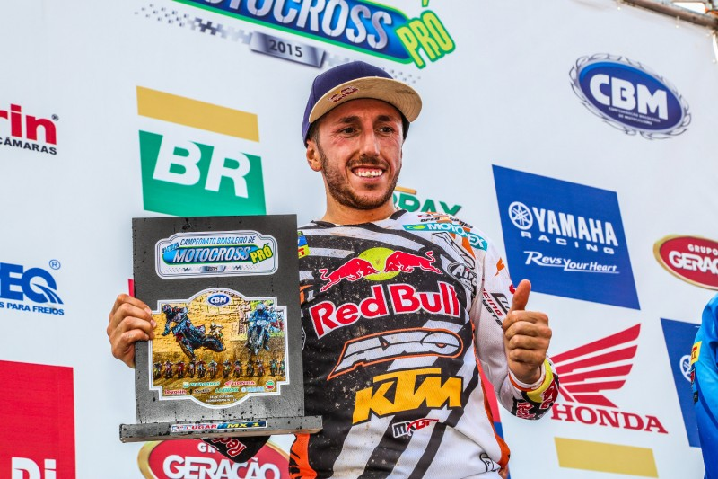 Tony Cairoli Brazilian National Motocross Championship 2015