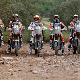 Antoine Meo, Jordi Viladoms, Laia Sanz, Toby Price, Matthias Walkner KTM 450 RALLY 2015