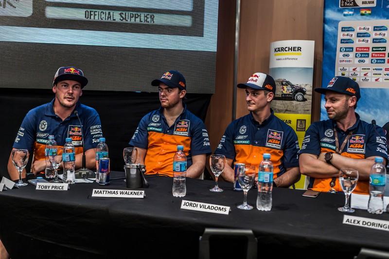 Toby Price, Matthias Walkner & Jordi Viladoms Dakar 2016