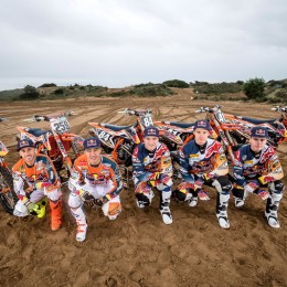 Tony Cairoli, Glenn Coldenhoff, Jeffrey Herlings, Pauls Jonass & Davy Pootjes KTM team shooting 2016