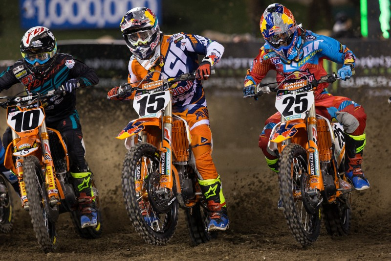 Dean Wilson (#15, GBR) & Marvin Musquin (#25, FRA) Anaheim 1 (USA) 2016