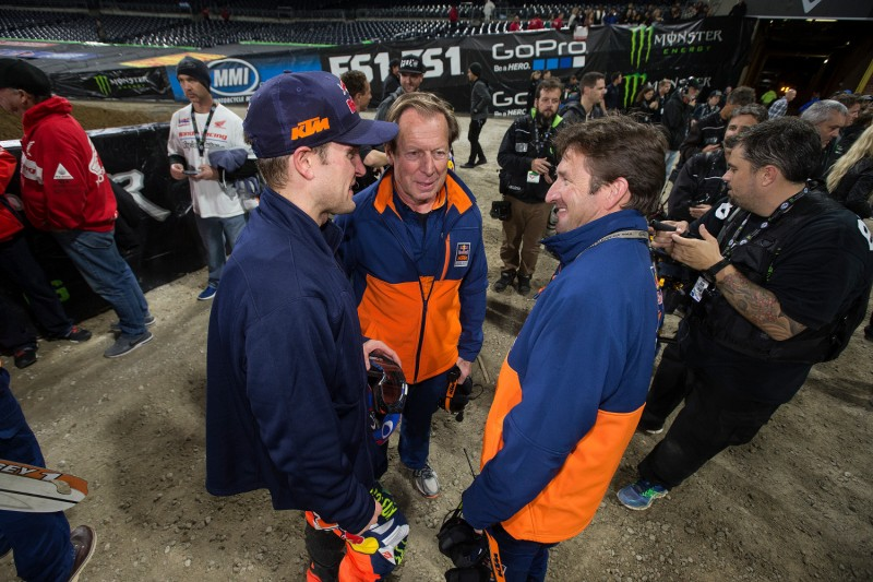 Ryan Dungey (USA), Roger De Coster (BEL) & Ian Harrison (USA) San Diego 2016