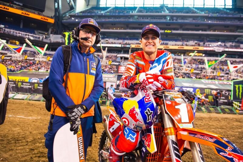 Carlos Rivera & Ryan Dungey KTM 450 SX-F Indianapolis (USA) 2016
