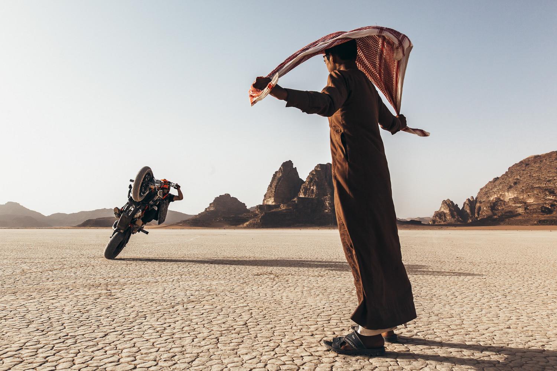 Rok Bagoros in Wadi Rum desert