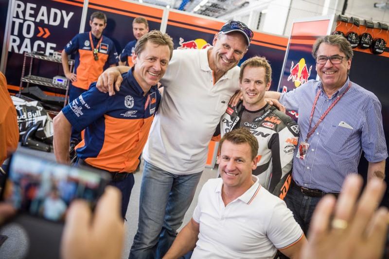 Mike Leitner (AUT), Heinz Kinigadner (AUT), Pit Beirer (GER), Mika Kallio (FIN) & Stefan Pierer (AUT) Spielberg (AUT) 2016