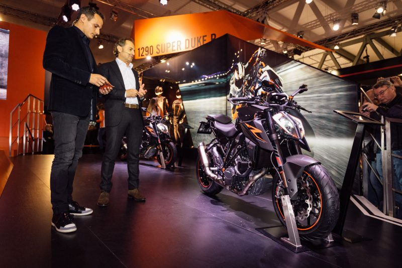 Alex Hofmann & Hubert Trunkenpolz KTM 1290 SUPER DUKE R MJ17 EICMA (ITA) 2016