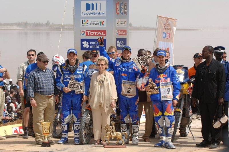 David Casteu (FRA), Cyril Despres (FRA) & Chris Blais (USA) Dakar 2007