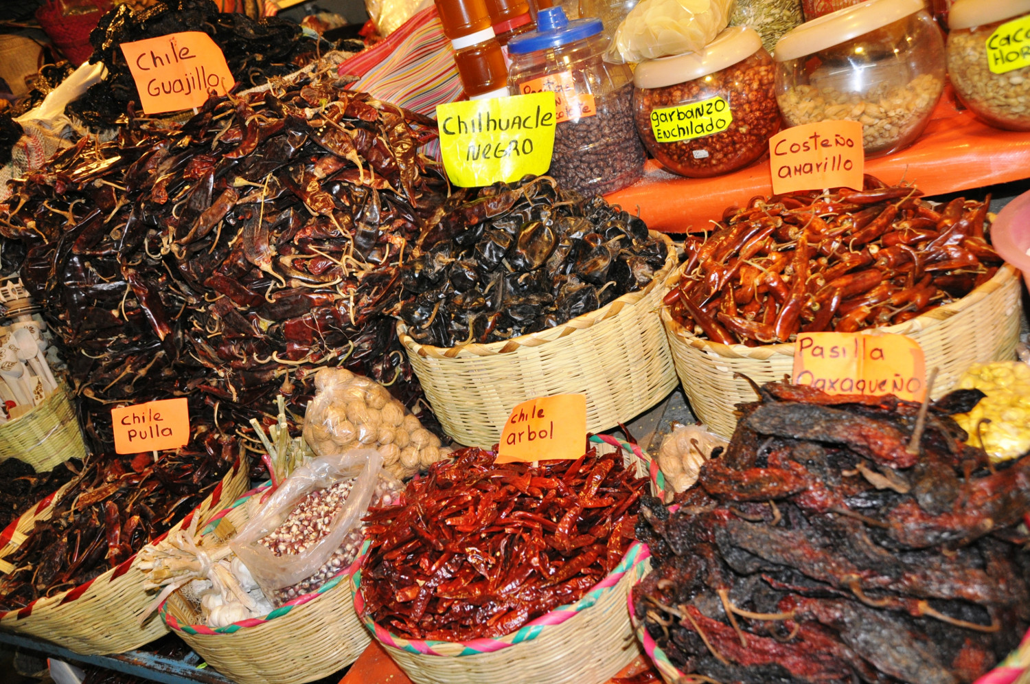 Am Markt von Oaxaca: Chili in allen Variationen | Oaxaca market: every type of chili you can imagine
