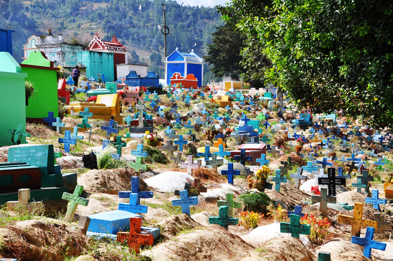 Farbenfroher Friedhof von Quetzaltenango | Colorful cemetery at Quetzaltenango