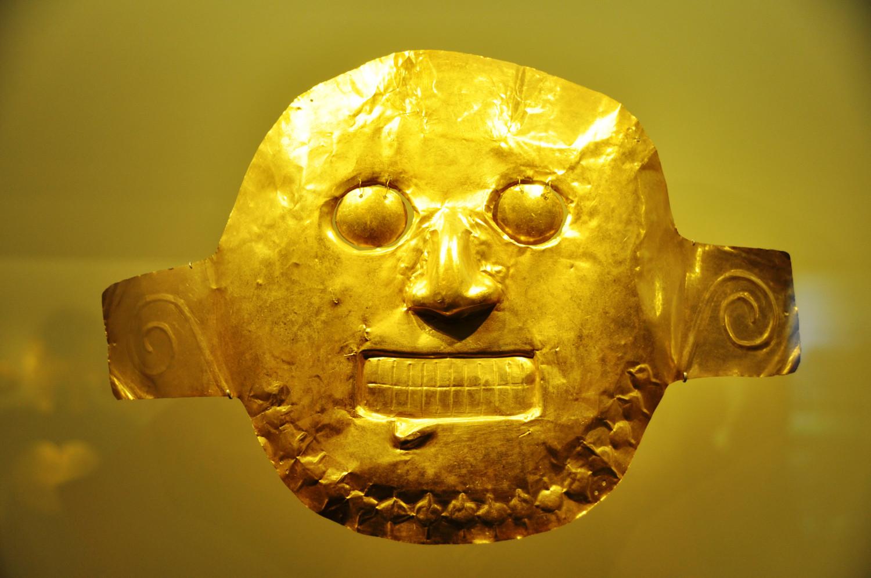 Ausstellungsstück im absolut sehenswerten Goldmuseum von Bogotá | Exhibit in Bogotá's unmissable gold museum