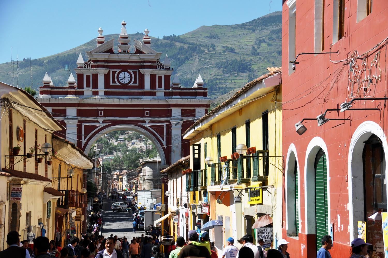 In der Fußgängerzone von Ayacucho | In the pedestrian zone of Ayacucho