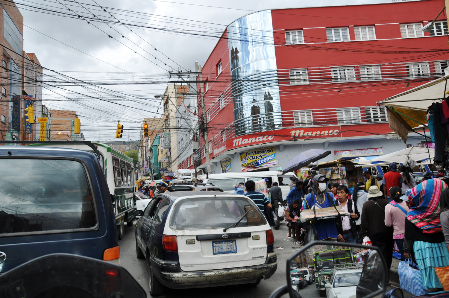 Verkehr in La Paz: Kampf um jeden Quadratmeter | Traffic in La Paz: a battle for every square meter