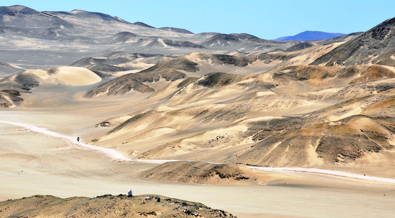 Je näher zur Küste, desto mehr Dünen   The nearer the coast, the more dunes