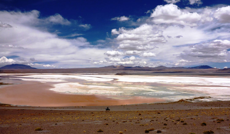 Bilderbuch Bolivien: Laguna Rosa | Picture-postcard Bolivia: Laguna Rosa