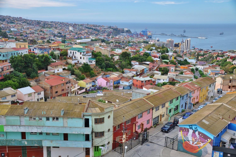 Buntes Valparaíso an den Hängen zum Pazifik | Colorful Valparaíso on the slopes down to the Pacific