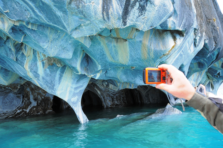 Bootsausflug zu den Marmorhöhlen im Lago Carrera | Boat trip to the marble caverns in Lago Carrera