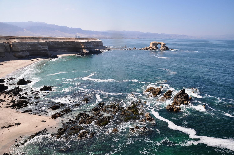 Küstenabschnitt bei Antofagasta (La Portada) | Coastal stretch near Antofagasta (La Portada - The Gateway)