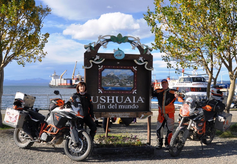 Etappenziel Ushuaia (Argentinien) – 45.000 Kilometer seit Alaska | Milestone: Ushuaia (Argentina) – 45,000-kilometers from Alaska