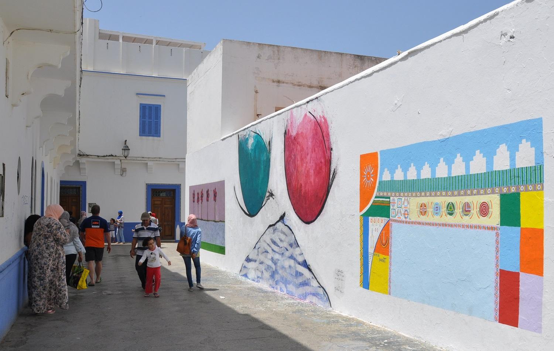 … in der Künstlerstadt Asilah   … in the artistic city of Asilah