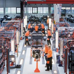 Production of the KTM X-BOW at the Graz facility