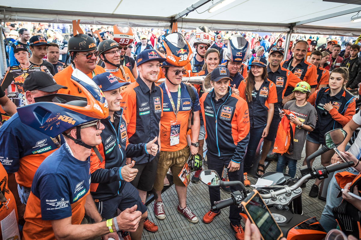 KTM Fans & KTM Factory Riders Red Bull Ring (AUT) 2017