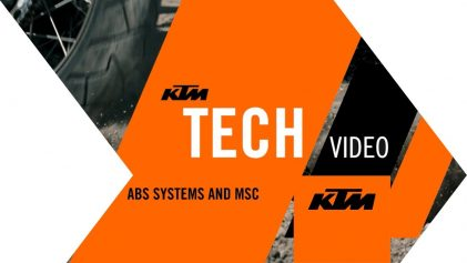 KTM Tech Video: KTM ABS systems and MSC