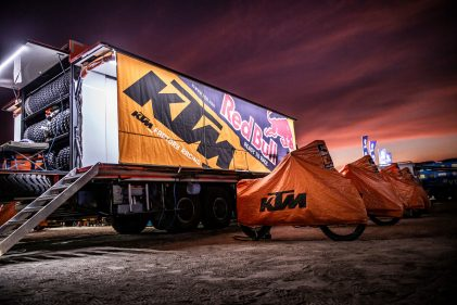 KTM Factory Racing: The ultimate support truck and rally team logistics