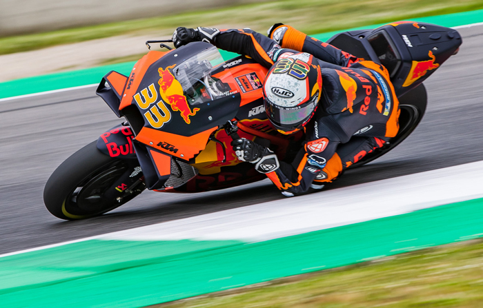 Brad Binder vom Red Bull KTM Factory Racing Team stellte den MotoGP Geschwindigkeitsrekord in Mugello (Italien) ein PC @PolarityPhoto